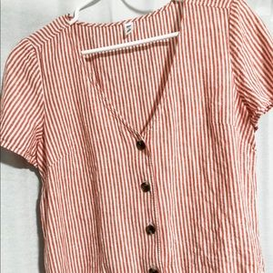 BP by NORDSTROM  Bottom down striped top.